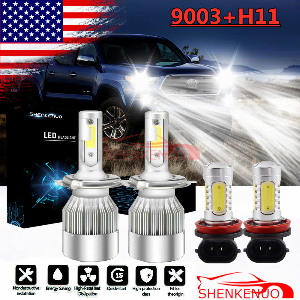 LED Headlight Kit H11 6000K White Fog Light LED Bulb for TOYOTA Tundra 2014-2019