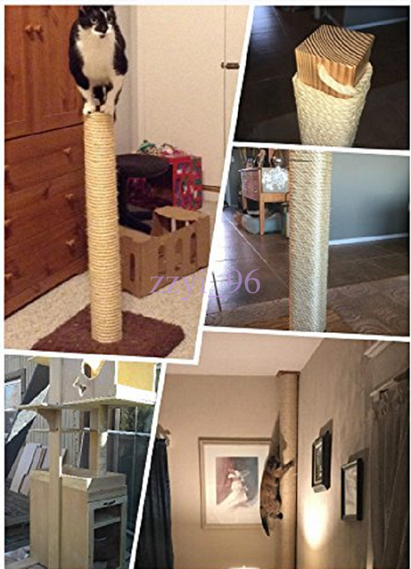 1 5 10m 6mm Diy Cat Scratching Post Pet Toy Natrual Cordage Twisted