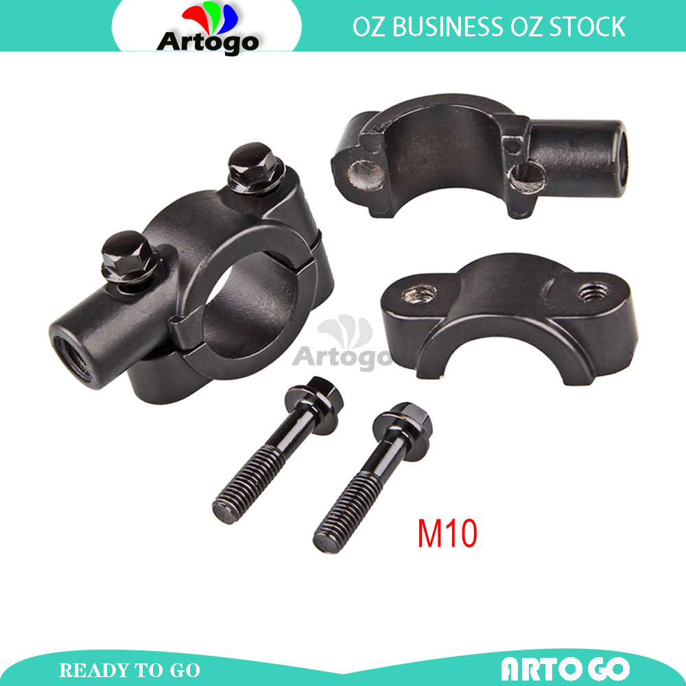 """10mm Thread Mirrors Clamp On Mount Adapter for 7//8/"""" Handlebar Motorcycle Black"""