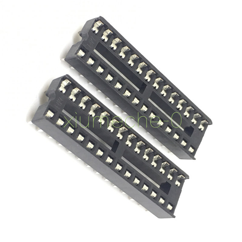 20PCS 28-Pin 28P Narrow DIP IC Sockets Adaptor Solder Type Socket 2.54mm Pitch