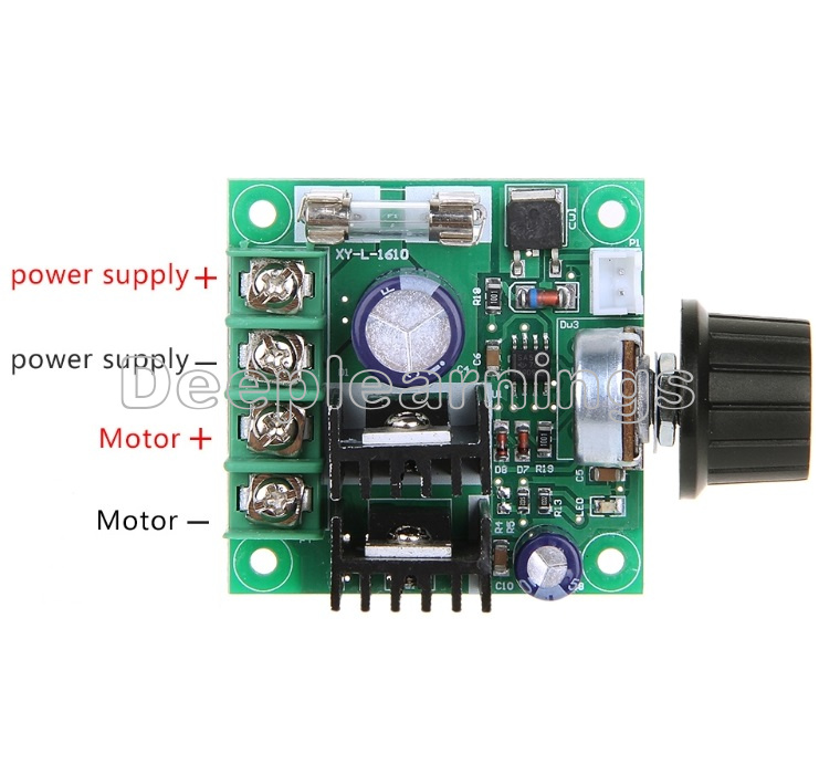 12V~40V 10A PWM DC Motor Speed Control Switch Controller Volt Regulator DimmerS*