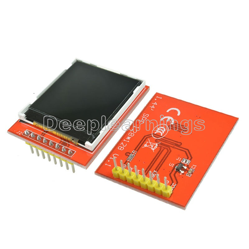 """5PCS 1.44/"""" Red Serial 128X128 SPI Color TFT LCD Module Replace Nokia 5110 LCD"""