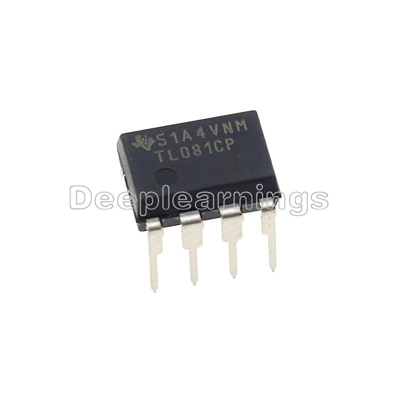 10pcs TL081 TL081CP TI IC JFET Input Operational Amplifiers DIP-8 NEW