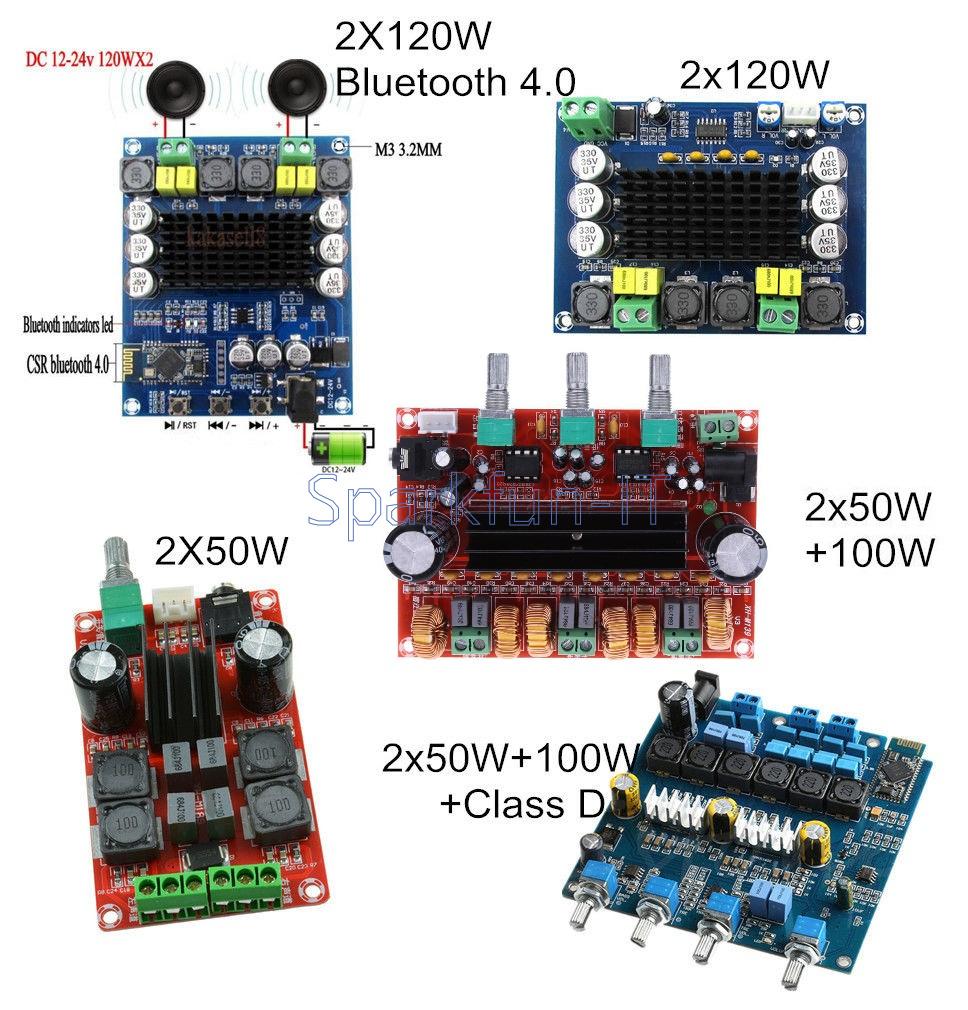 2*50W 2*50W+100W 2*120W Class D TPA3116D2 Dual Channel Digital Stereo B2SA
