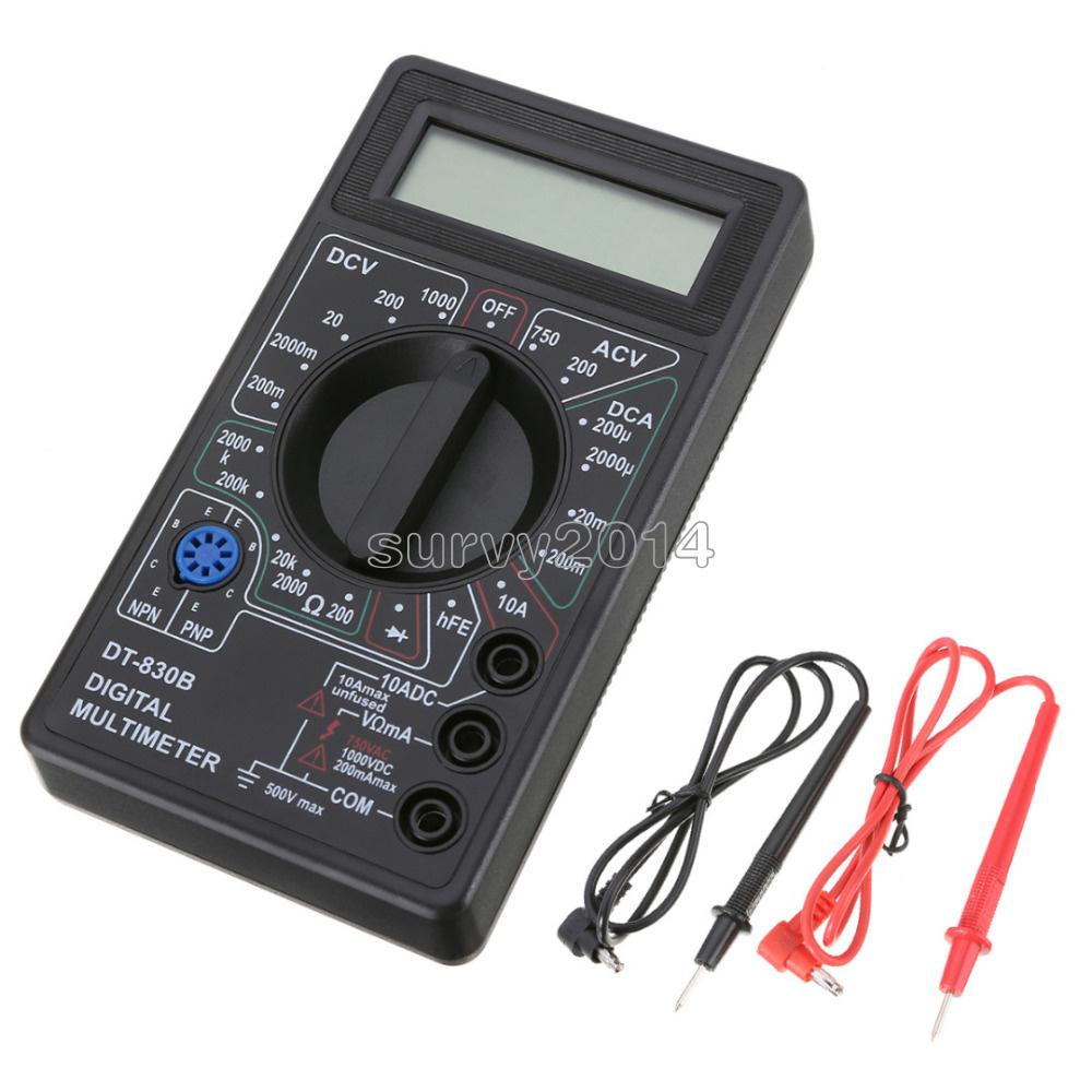 Mini LCD Digital DT830B Multimeter Voltmet Electric Voltage Tester+Test Lead Pen