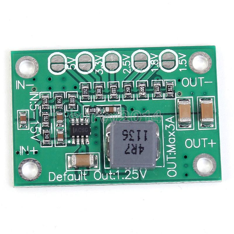 Universal 5-16V To 1.25V//1.5V//1.8V//2.5V//5V Adjustable Step Down Power Module NEW