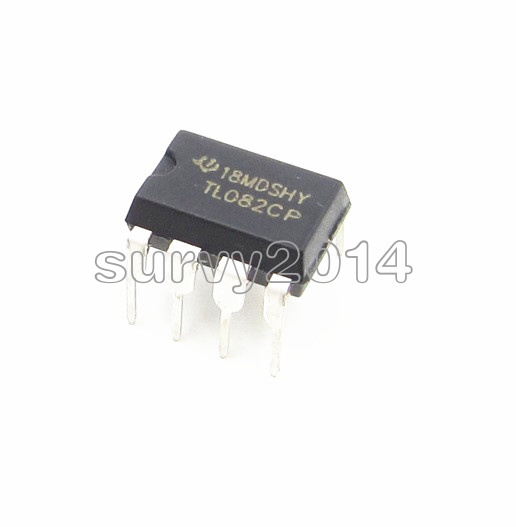 10PCS TL082 IC TI DIP 8 JFET-INPUT OPERATIONAL AMPLIFIERS