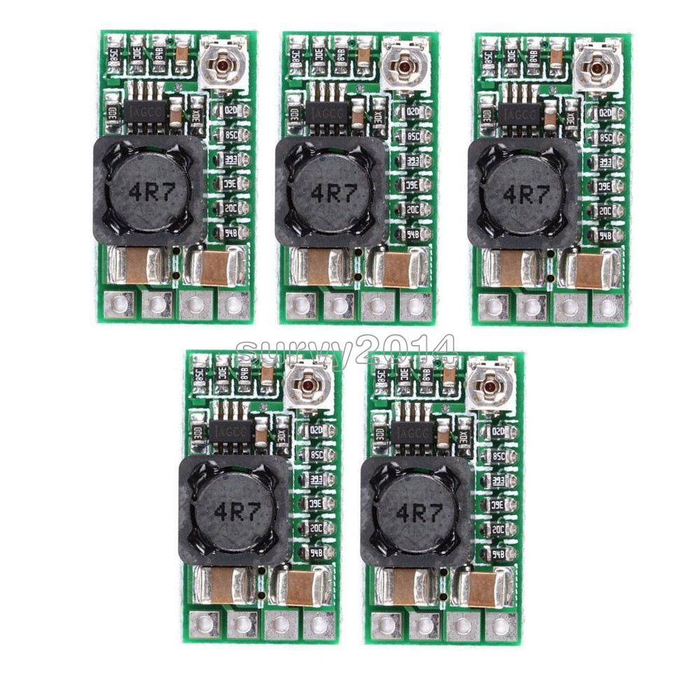 10Pcs Step Down Power Supply Module Voltage Buck Converter Adjustable Board Mini DC-DC 12-24V to 5V 3A 1.8V 2.5V 3.3V 5V 9V 12V
