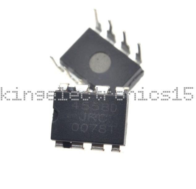 20Pcs JRC4558D JRC 4558D DIP8 OPAMP OP AMPS CHIP IC Good Quality