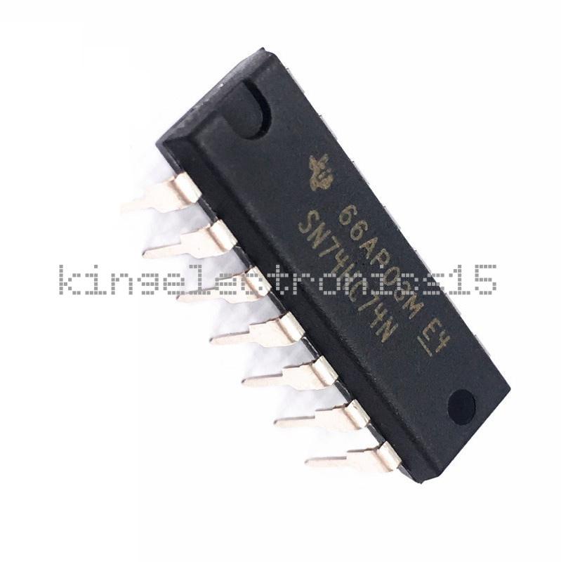 10PCS TI SN74HC74N DIP-14 74HC74 Integrated Circuit IC