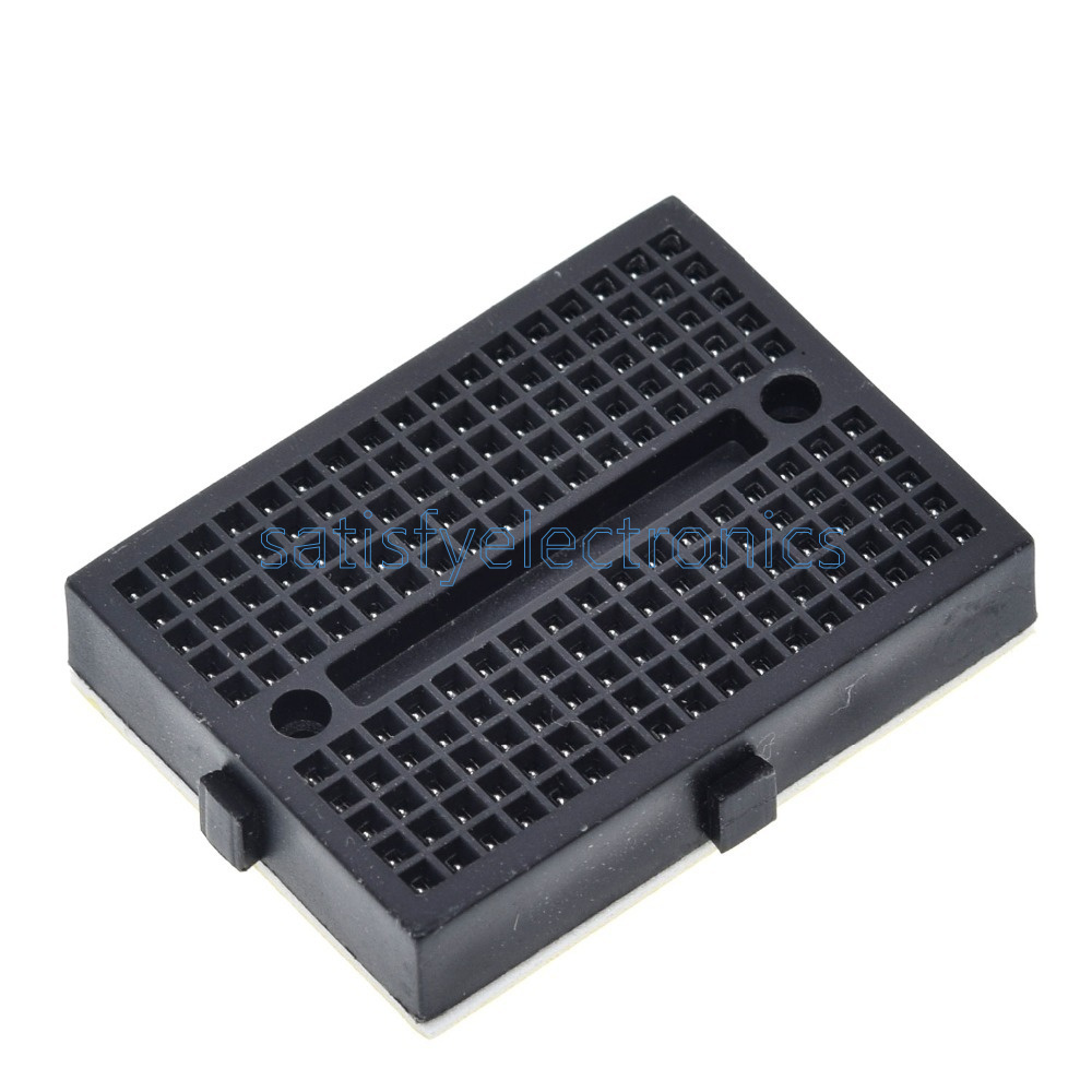 10pcs Mini Black Solderless Prototype Breadboard 170 Tie-points For Arduino