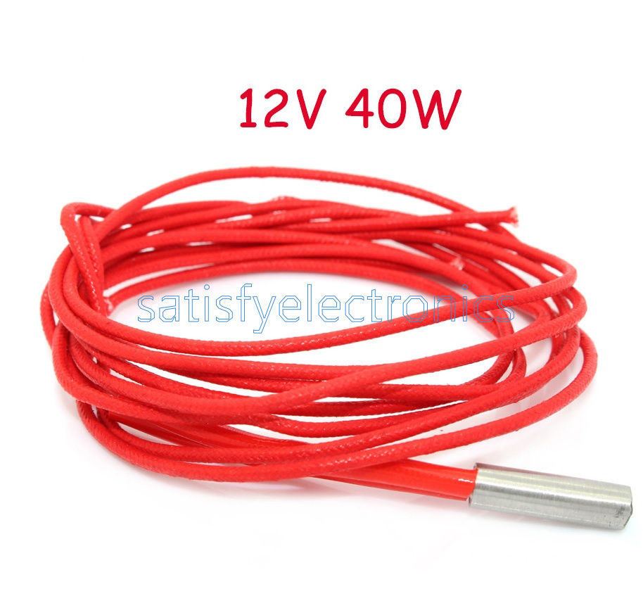 2Pcs 12V 40W Ceramic Cartridge Wire Heater For Arduino 3D Printer bw