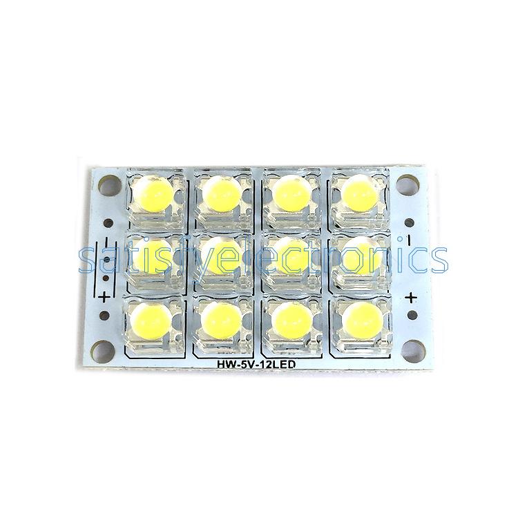 12 LED Super Bright White Piranha LED board Night LED Lights Lamp DC 3V-5V