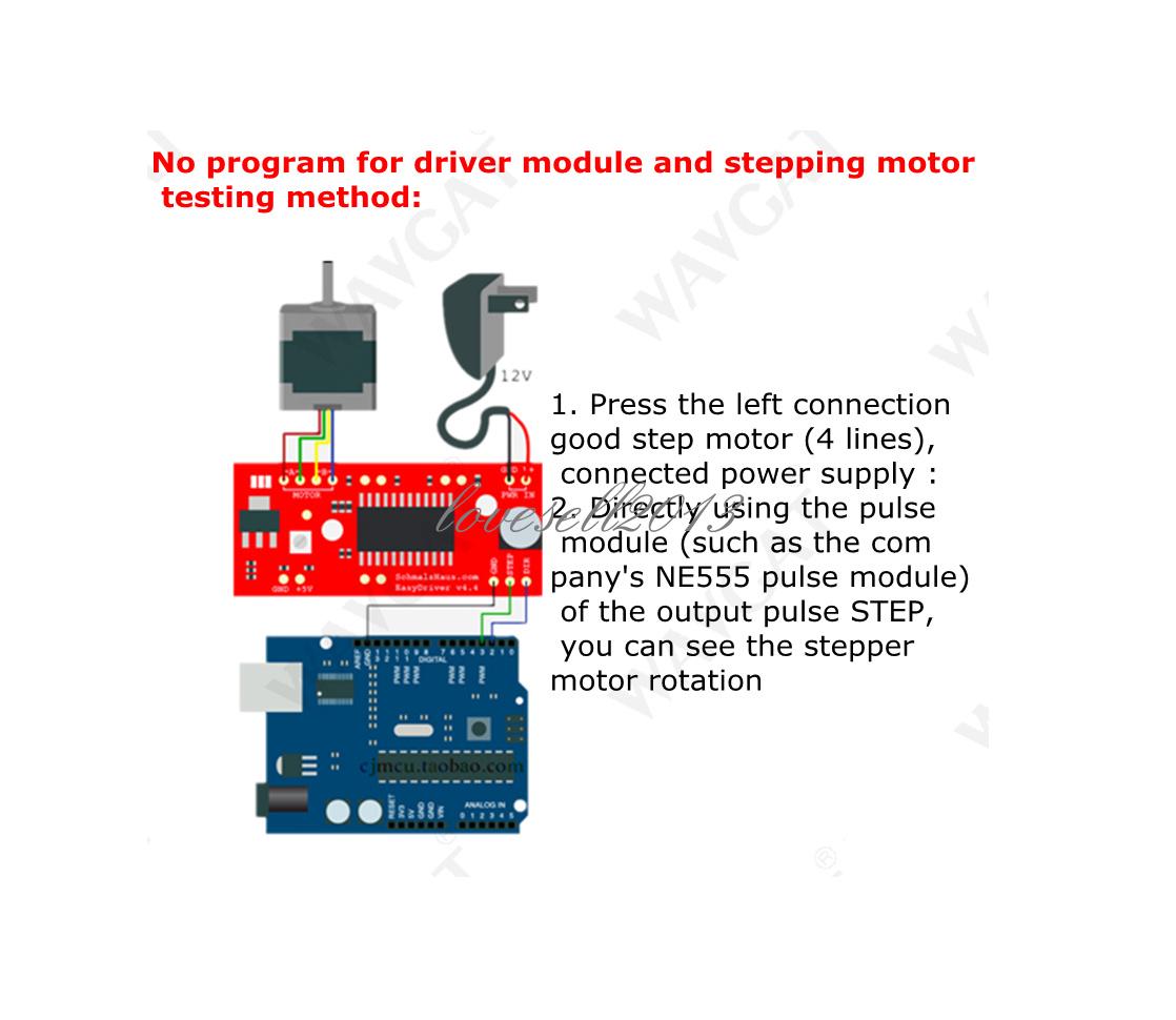 Schrittmotorensteuerungen 5PCS NEW EasyDriver Shield stepping ...