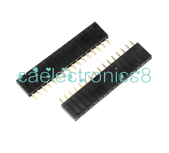 20PCS 16 Pin 1x16P 2.54mm Single Row Female Straight Header Pin Strip