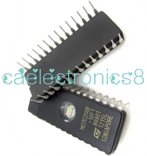 1PCS NEW EPROM M27C256B-10F1  27C256-100 32Kx8 100ns CMOS von STM DIC28