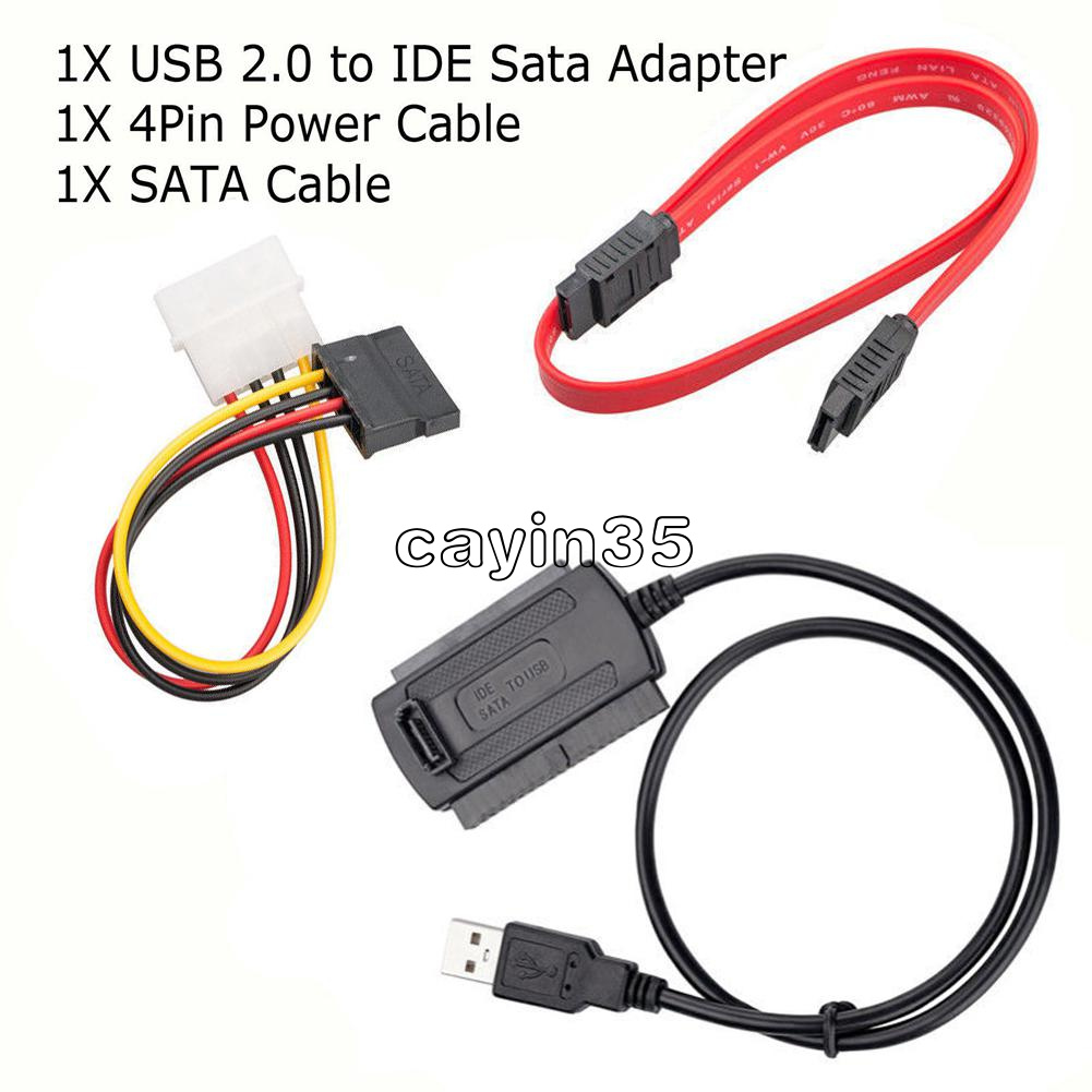 """USB2.0 TO IDE//SATA//PATA  2.5/"""" 3.5/"""" Hard Drive Adapter Converter Cable Stable"""