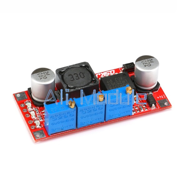 5PCS LM2596 DC-DC Step-down Adjustable CC//CV Power Supply Module LED driver CK