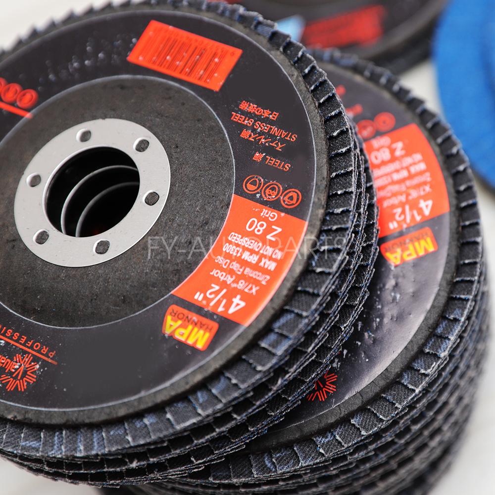 Premium Zirconia Flap Disc 4-1//2 X 7//8 60 GRIT Pack of 50