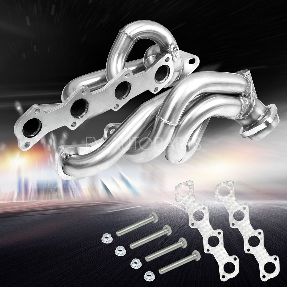 Stainless SS Exhaust Shorty Headers For FORD F150 F250 EXPEDITION V8 5.4L 97-03