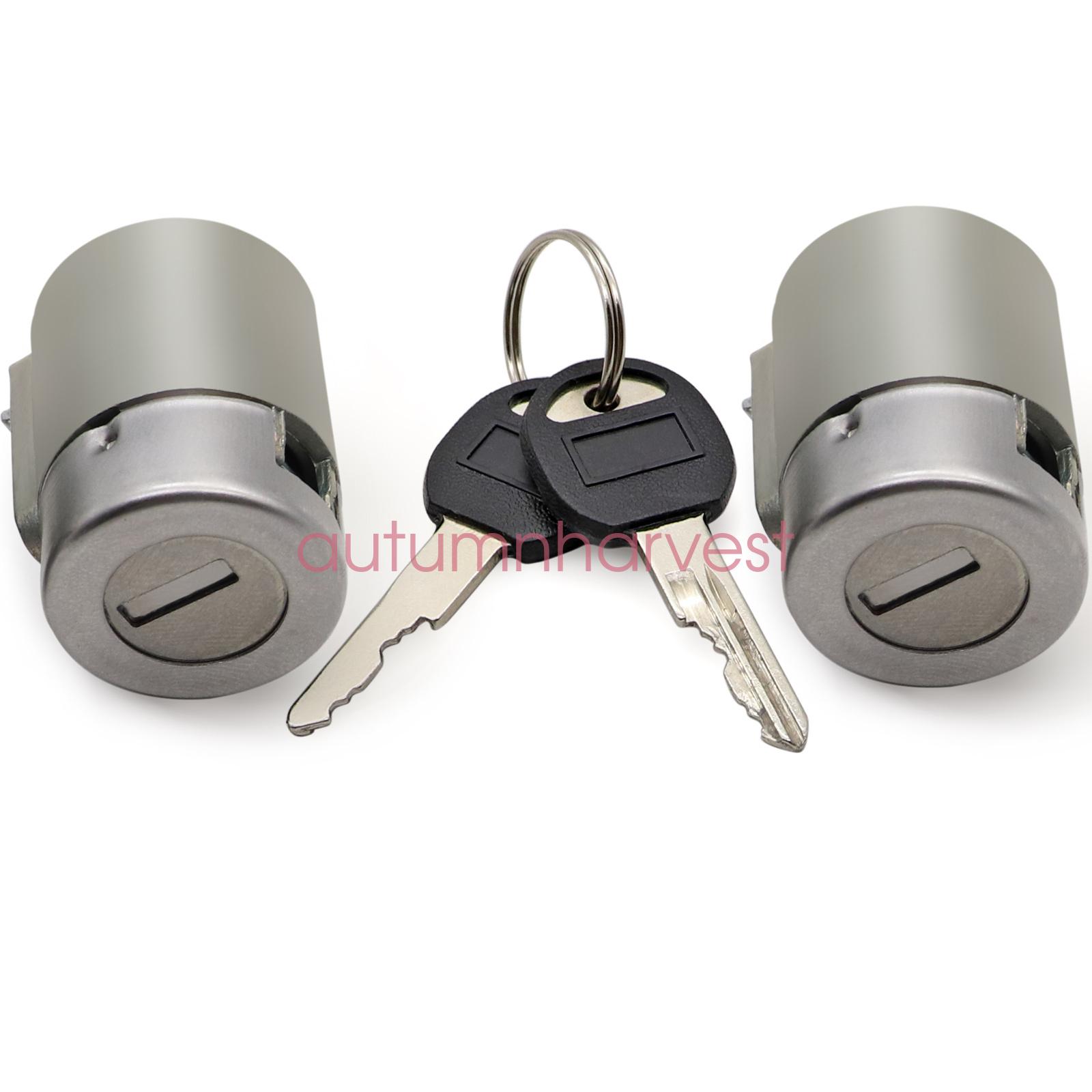 Front Door Lock Cylinder Kit Pair Set With Keys New For C1500 K1500 Tahoe Yukon