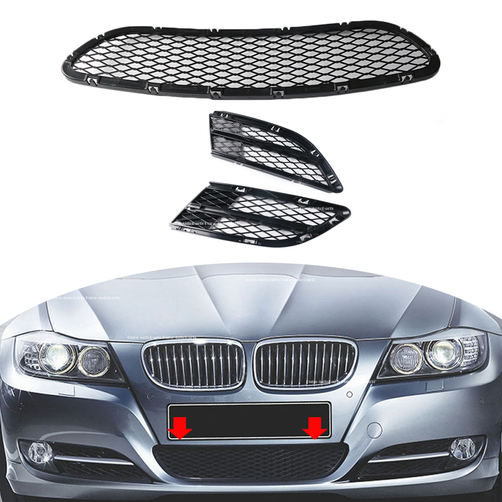 For BMW 325i 328i 335i xDrive 335d 09-12 Front Bumper Mesh Grille 51117198906