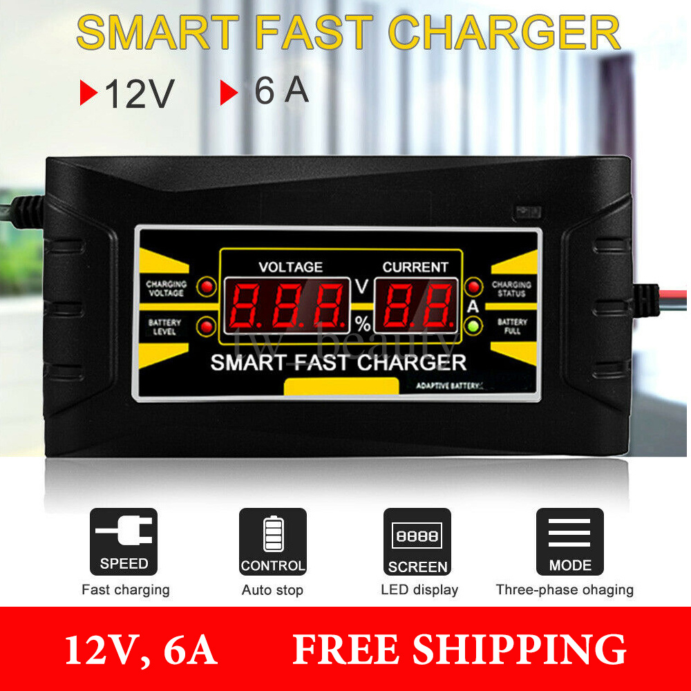 12V 5-6A Car Battery Charger Motorcycle Charger SON-1206D Lead Acid Charger RS1