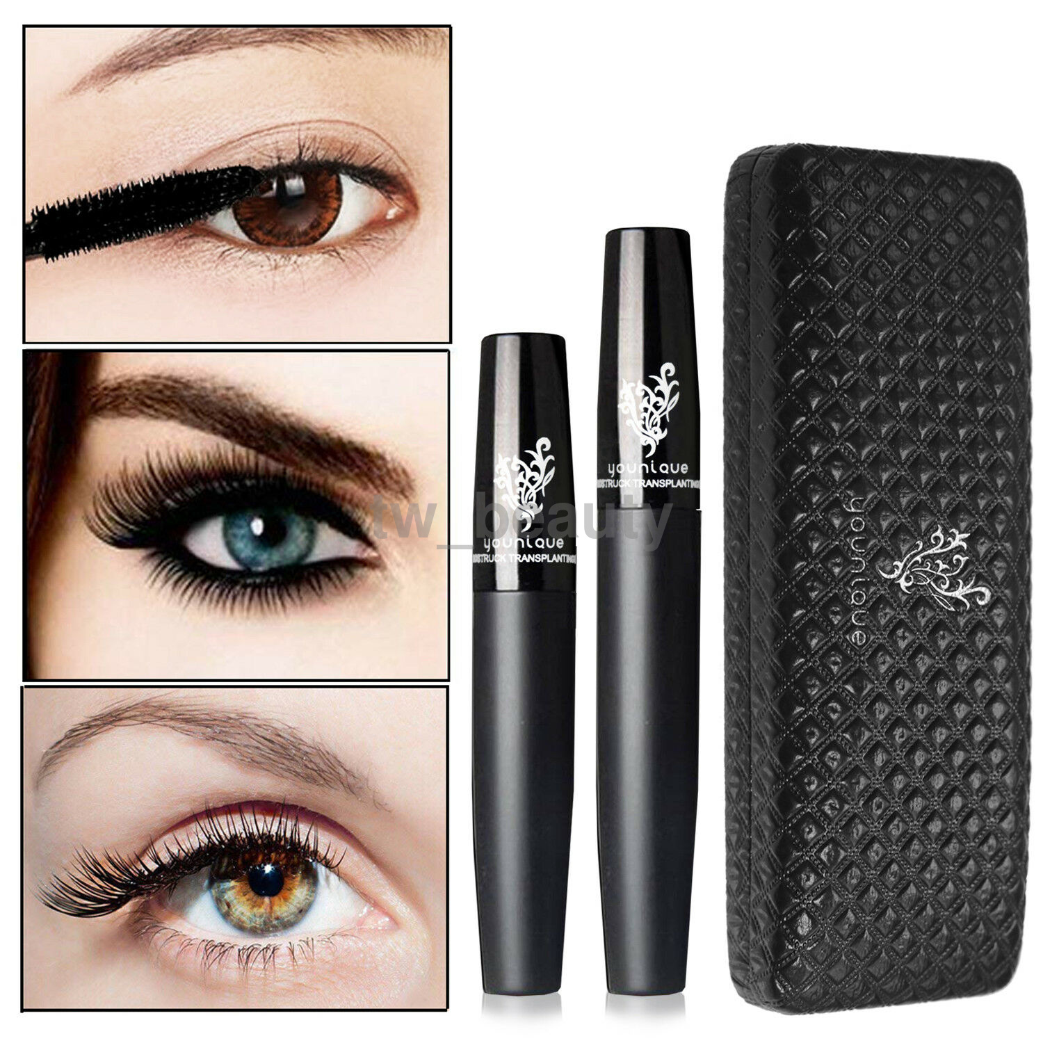 1bf8d23bbcd Details about Waterproof Eye lash Makeup 3D Fiber Long Curling Eyelash  Mascara Extension New
