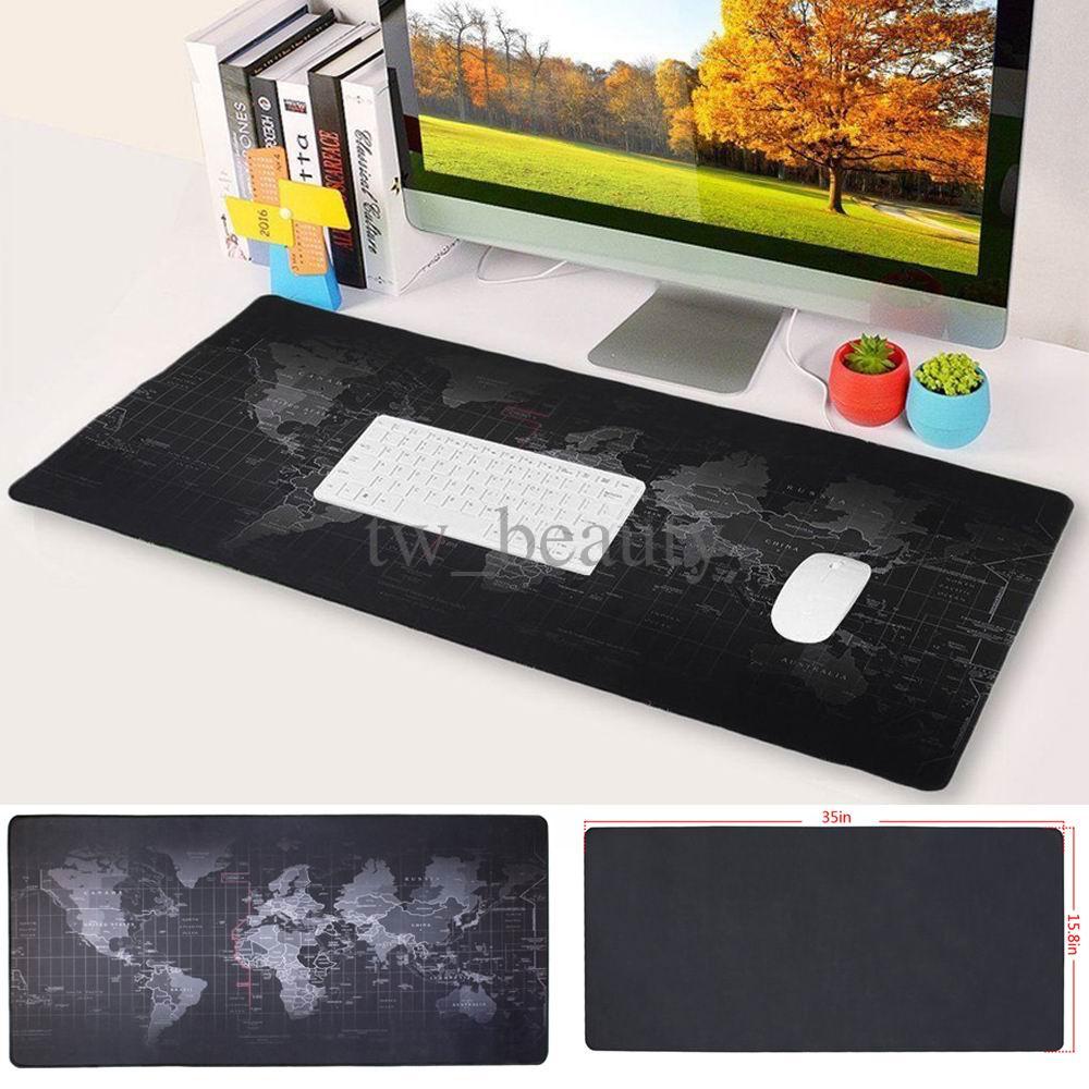Non Slip World Map Mouse Pad Keyboard Mat Gaming Computer Pc Desk