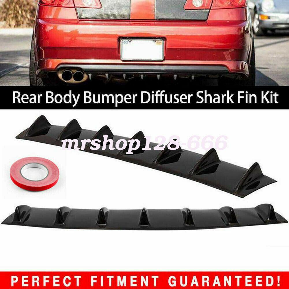 ABS Car Rear Body Bumper Lip Diffuser Modified Racing Shark Fin 7 Spoiler Wing