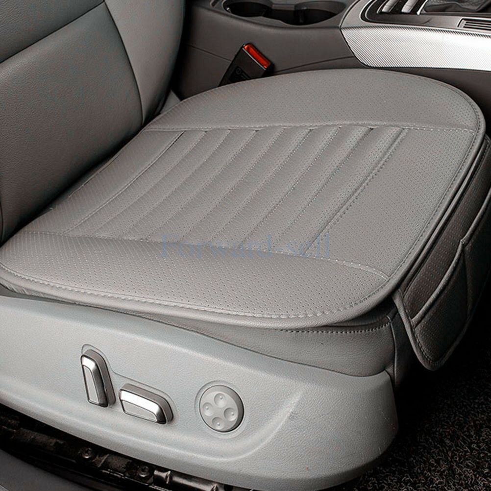Fine Details About Gray Breathable Pu Leather Bamboo Car Seat Cover Pad Mat For Auto Chair Cushion Andrewgaddart Wooden Chair Designs For Living Room Andrewgaddartcom