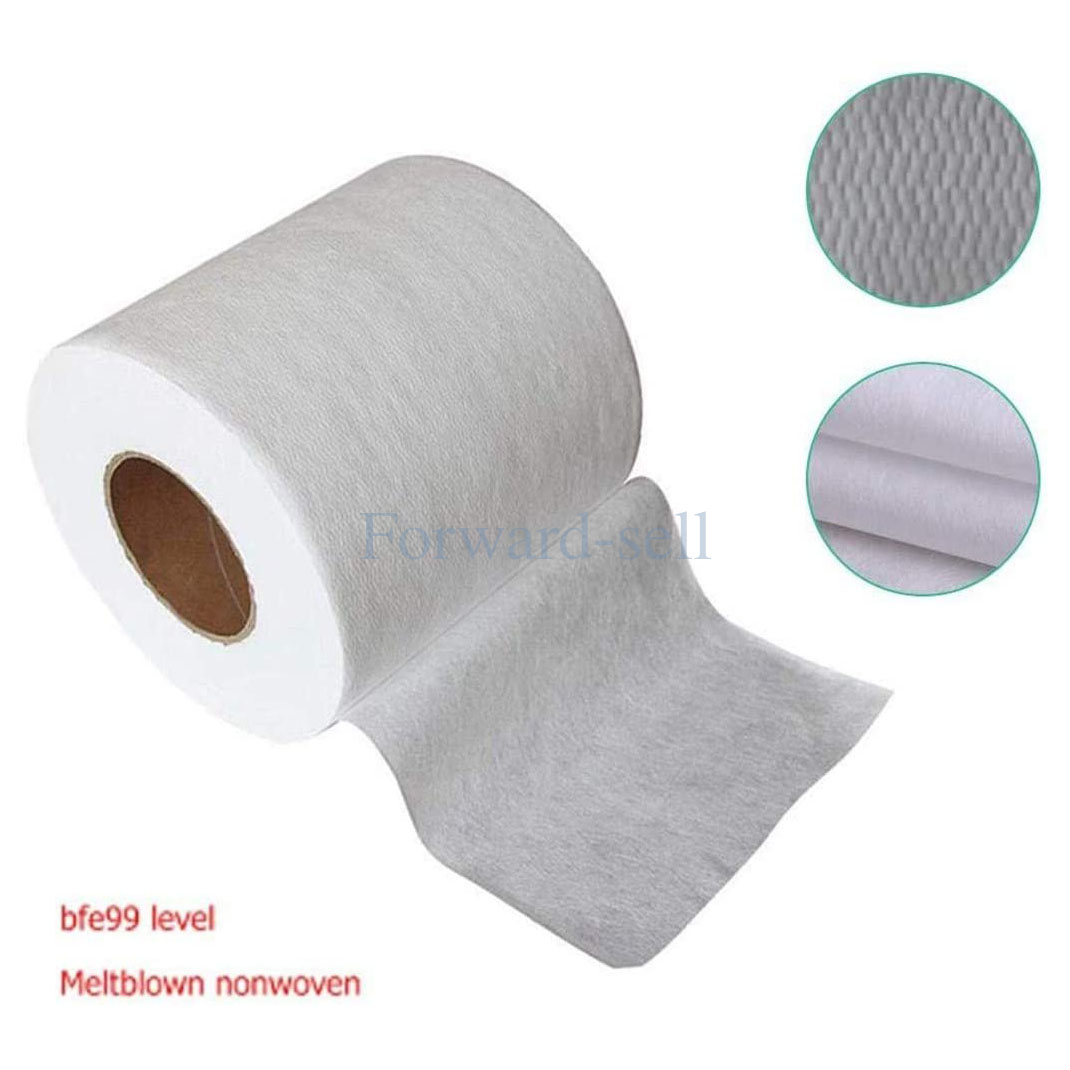 Nose Bridge Microfiber Melt-Blown, Nonwovens, Cotton Pack Include 3 Layers Fabric Fabric Interfacing for Home Made Face Masks Sewing Craft Elastic Bands can be DIY Finished Masks 30-40 Pcs
