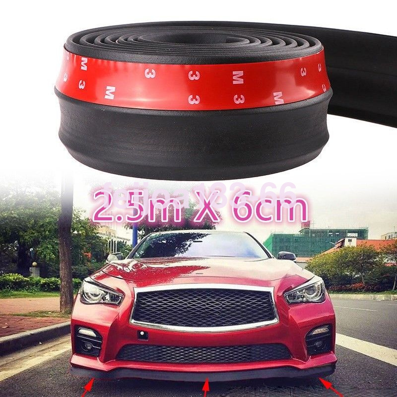 2.5M Car Front Bumper Lip Protector Body Spoiler Skirt Valance Chin Black