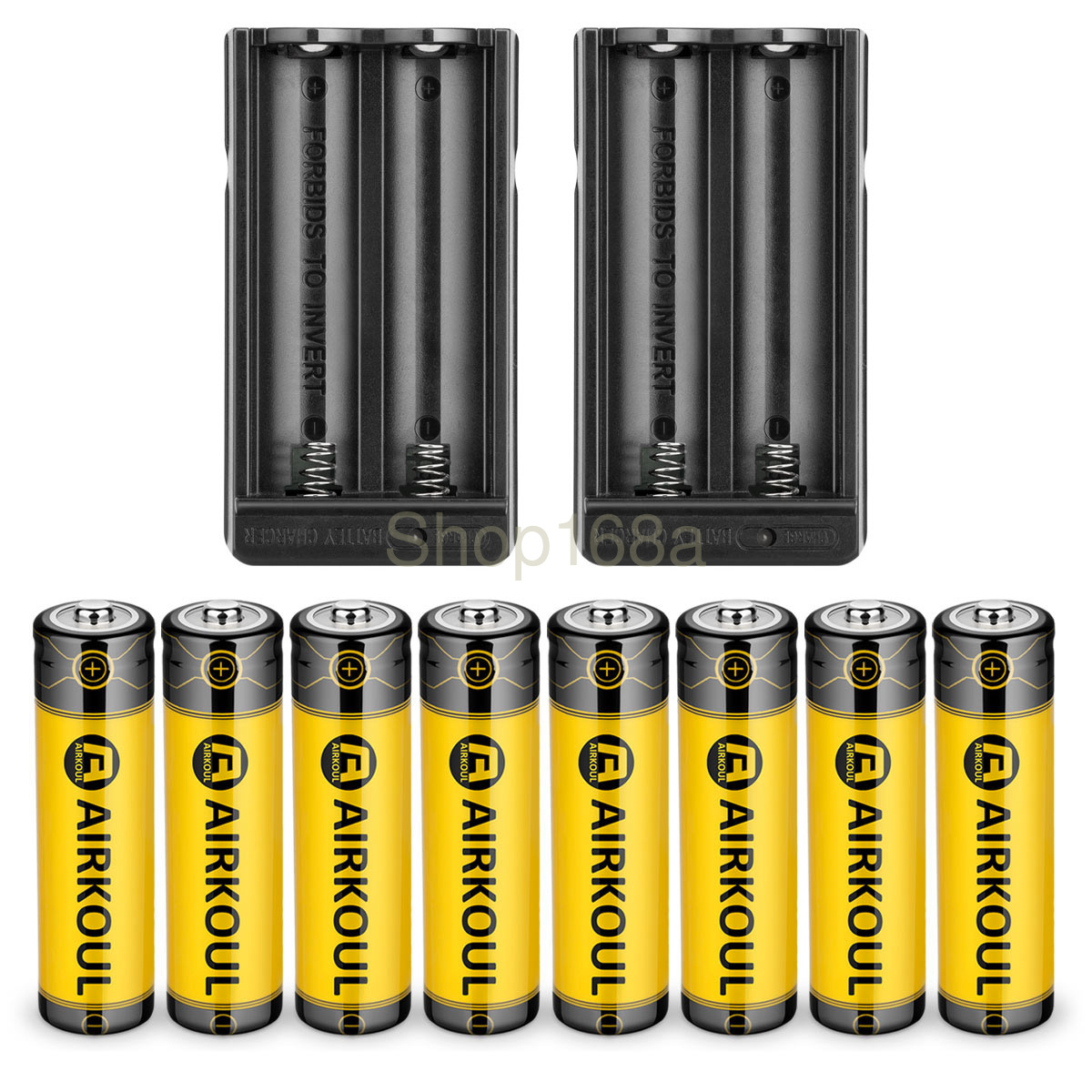4X18650 3.7V 6800mAh Rechargeable Li-ion Battery Charger For Flashlight Torch