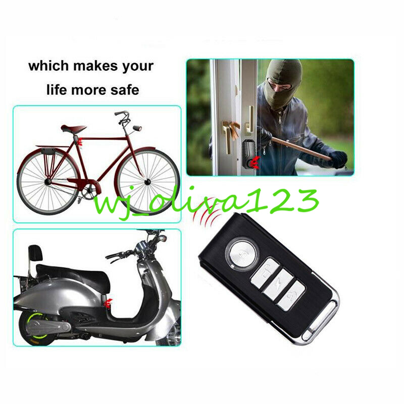 Motorrad Fahrrad Alarmanlage 113dB Drahtlos Anti Theft Erschütterungs sos