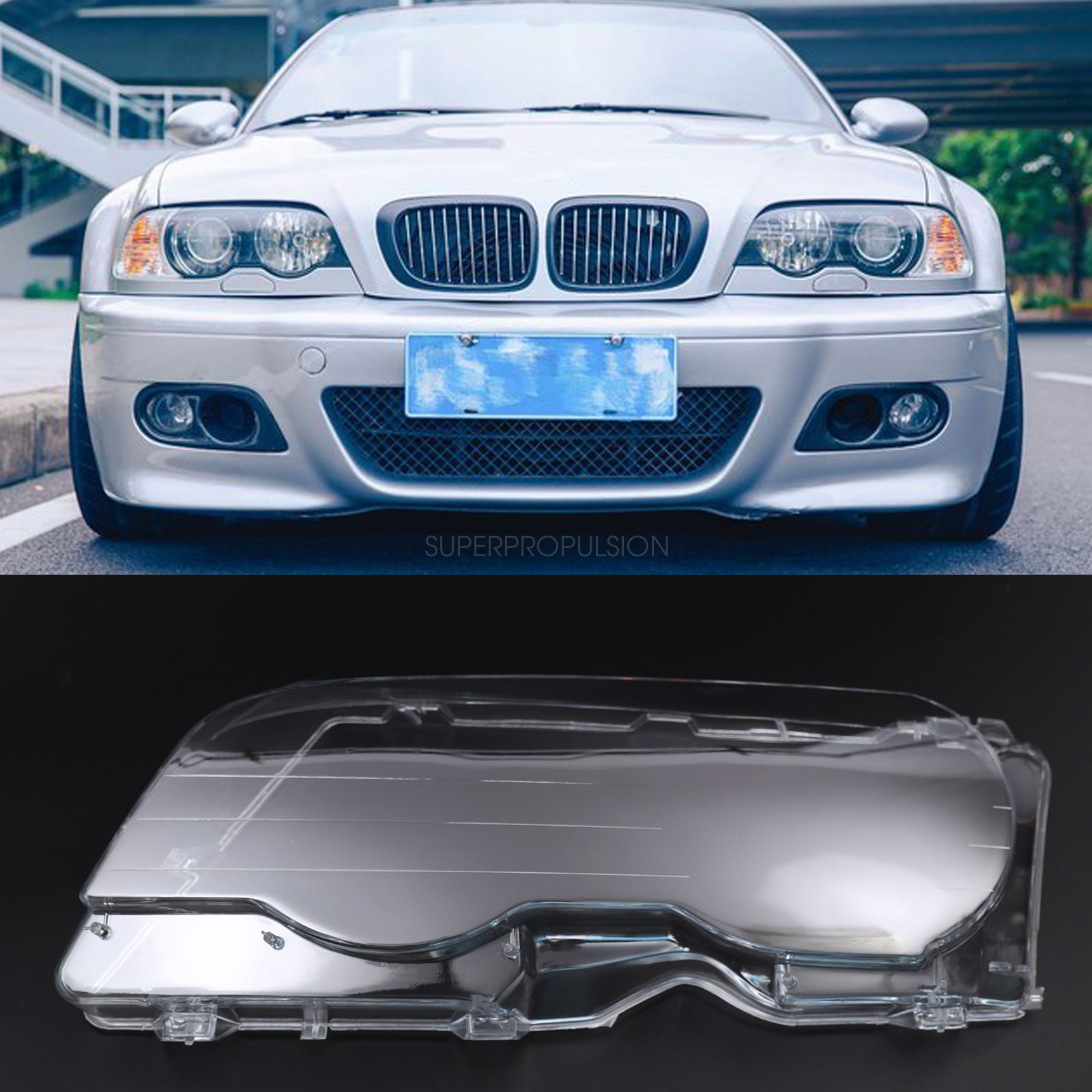 BMW 3 E46 1998-2001 NEW FRONT BUMPER FOG LIGHT LAMP COVER GRILLE LEFT RIGHT