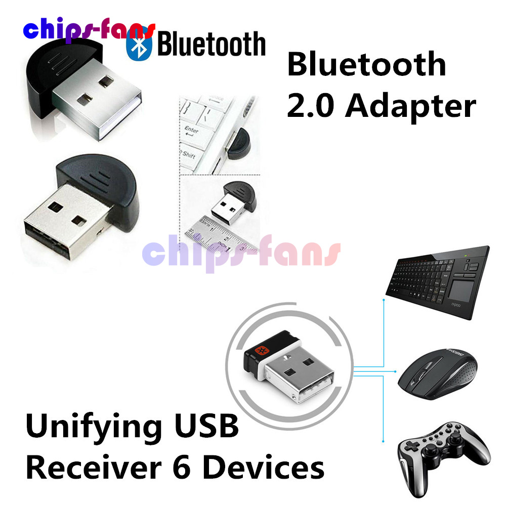 Logitech Unifying USB Receiver Dongle for Performance Keyboard Mouse 6 Devices