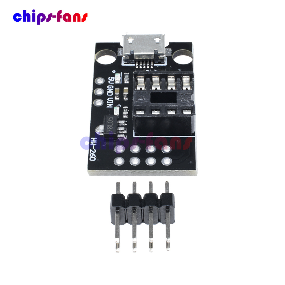 Micro USB Mini ATTINY85 Development Programmer Board for Tiny85-20PU DIP-8 IC