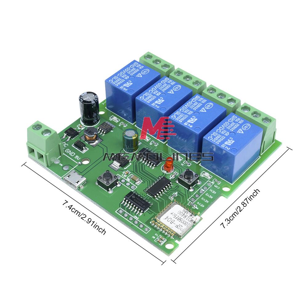 DC 7-32V 2//4 Channel Smart Switch WiFi Wireless Relay Module Remote Control