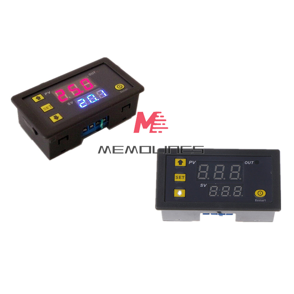 AC110-220V Cycle Timer Delay Dual LED Display Relay Module 0-999s//m//h Thermostat
