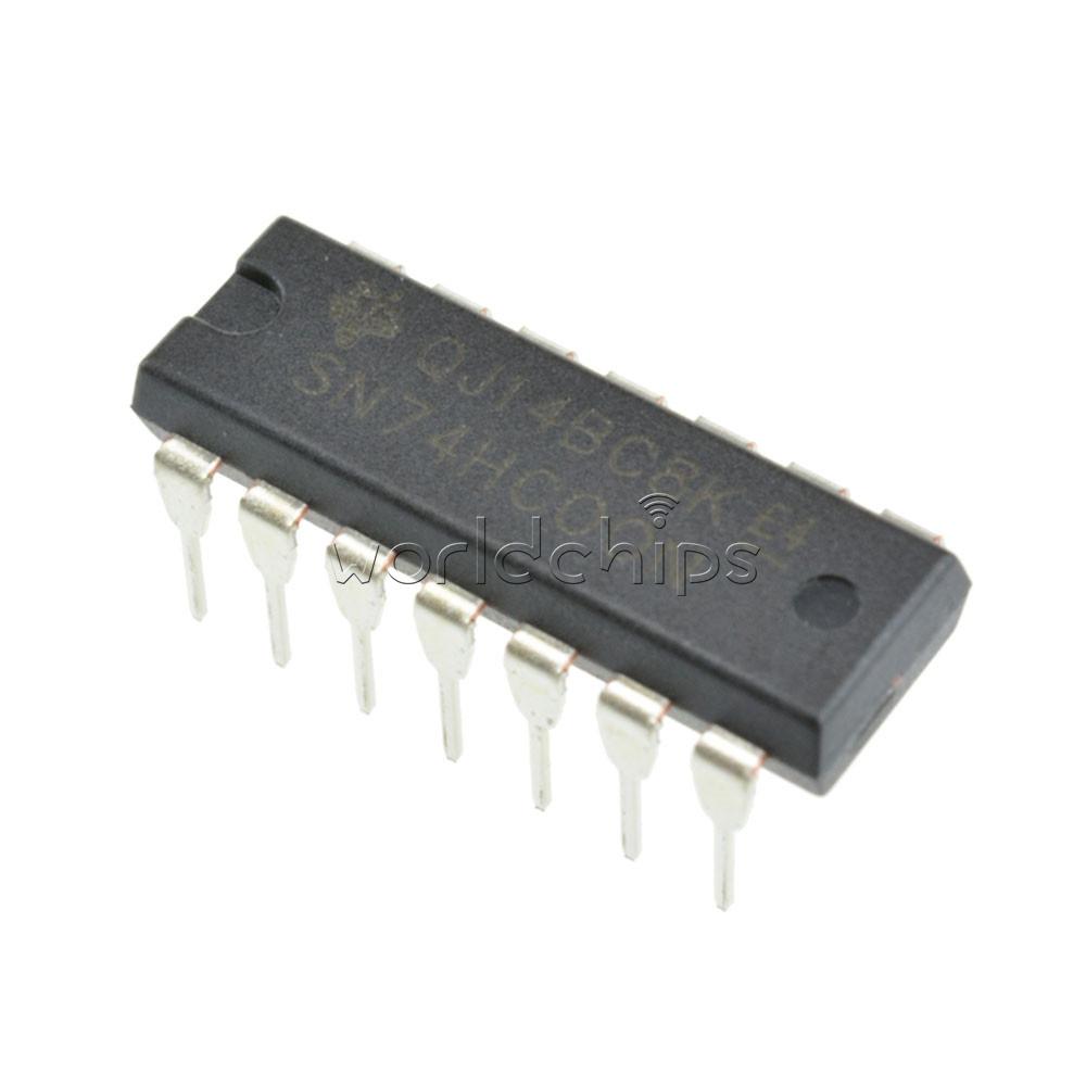 20pcs SN74HC00N 74HC00N IC QUAD 2-INPUT NAND GATE 14-DIP