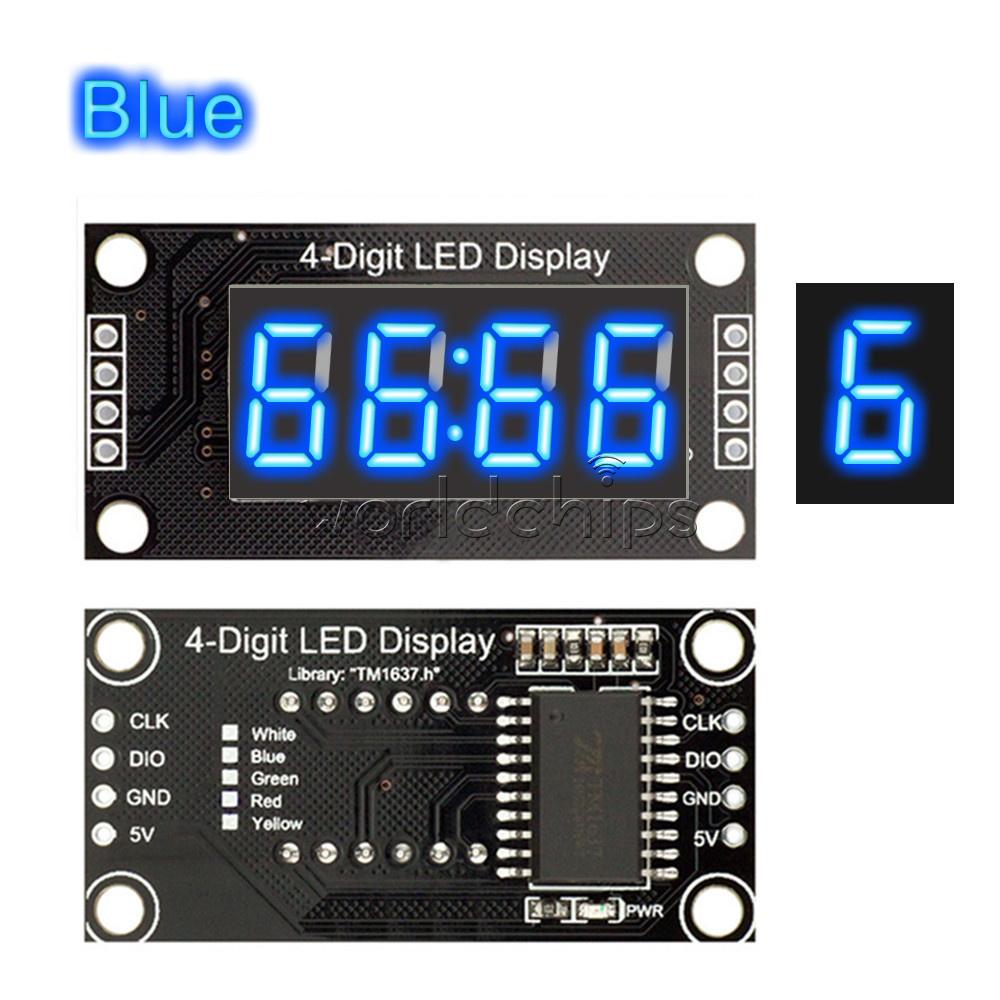 "White 0.56/"" inch TM1637 Digital 4-Bits LED Clock Tube Display 5V for Arduino"