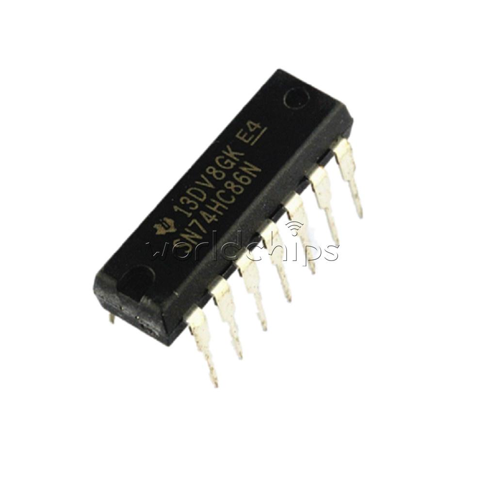 10PCS SN74HC86N 74HC86N 74HC86 DIP-14 IC TI