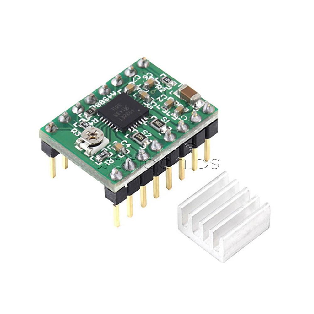 2PCS StepStick Stepper Motor A4988 Driver Module For Reprap Prus 3D Printer