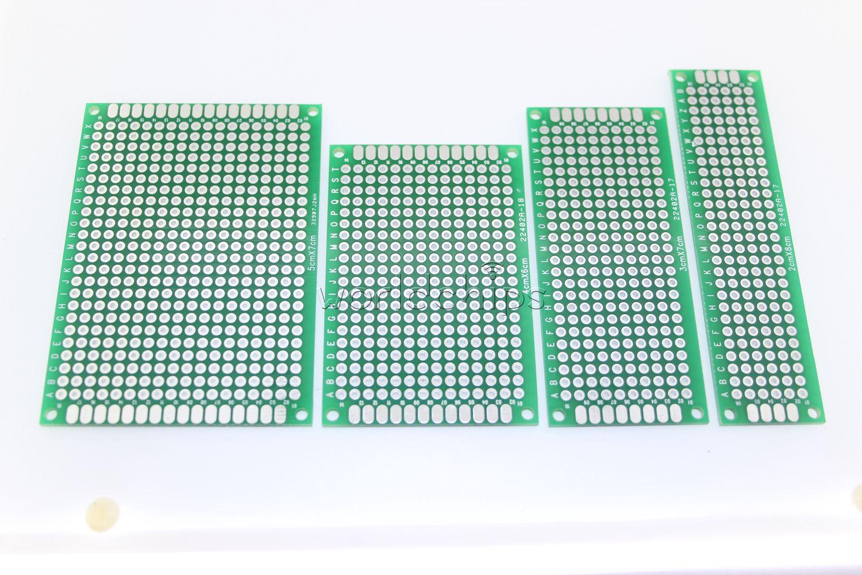 10PCS 2x8 cm Double Side Prototype PCB Tinned Universal Breadboard 20mmx80mm FR4