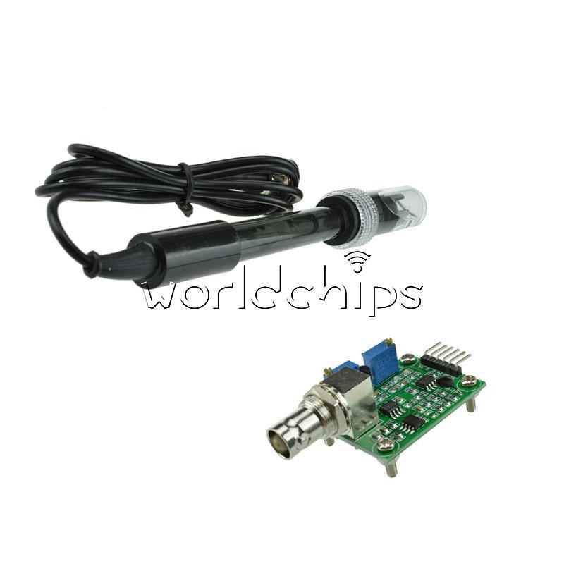 Liquid-valore-pH-0-14-Modulo-Sensore-Rileva-PH-elettrodo-sonda-BNC-per-Arduino miniatura 33
