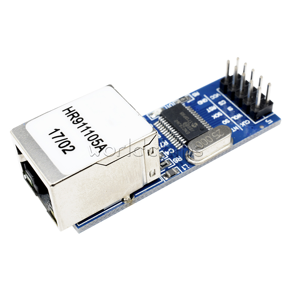 5PCS Ethernet LAN Network Module For 51 AVR STM32 LPC Mini ENC28J60