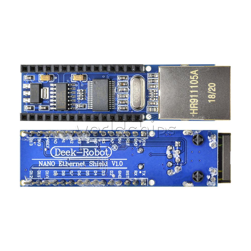 2Pcs Mini ENC28J60 Webserver module Ethernet Shield board for Arduino Nano V3.0