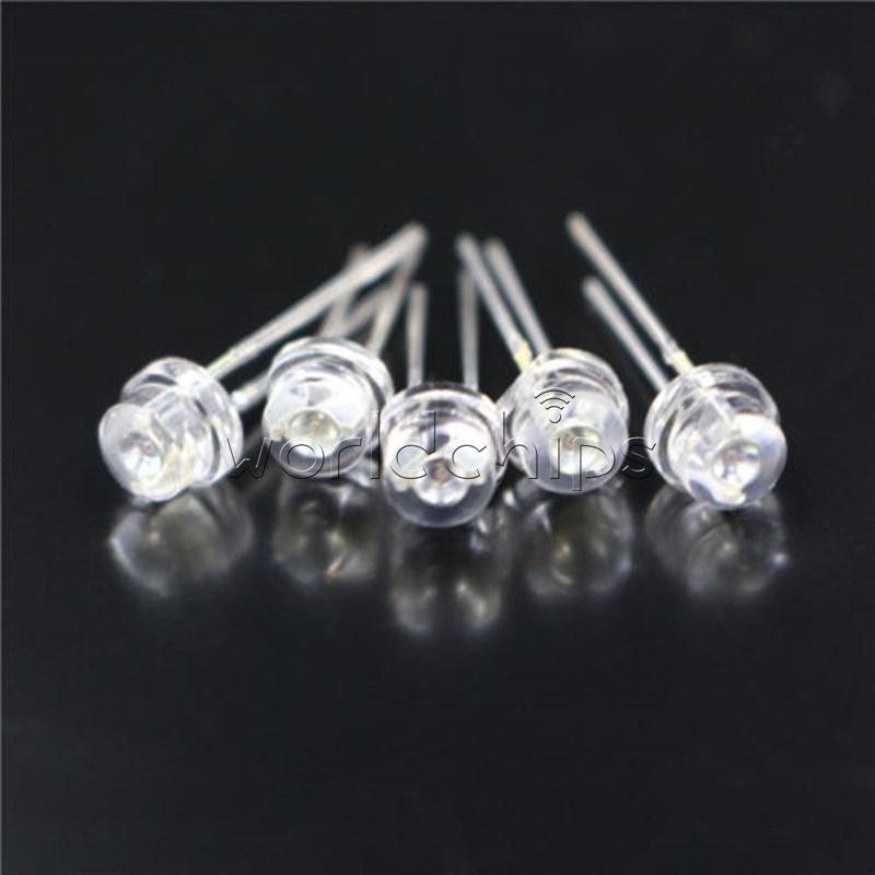 50PCS F5 5mm WHITE Straw Hat Superbright LED Light LED Lamp NEW