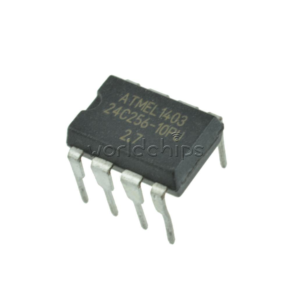 50PCS ATMEL AT24C256 24C256 DIP8 24C256 DIP-8 EEPROM NEW